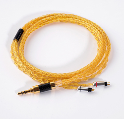 0.78mm 2 Pin Hand Made DIY Updated  8 Core 3.5mm Cable 7N Gold Plated Copper Cable Cord for KZ ZS5 ZS6 ZSR ZST UE18 UM3X