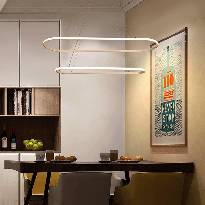 Minimalist Modern LED pendant lights For Diningroom Kitchen lustre suspension hanglamp nordic aluminum pendant lamp led
