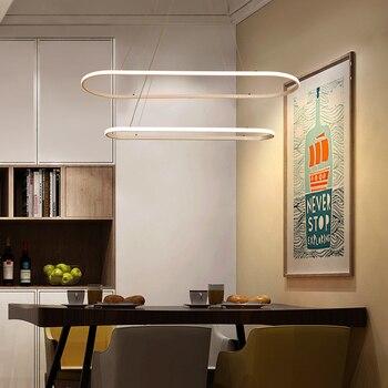 Moderno e minimalista LED lampade a sospensione Per La Sala Da Pranzo Cucina lustre sospensione hanglamp nordic lampada a sospensione in alluminio ha portato Infissi