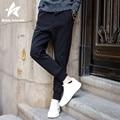 2016 Autumn Harem Pants Men Cotton Casual Loose Mens Joggers Solid Black Pencil Trousers Sweatpants Fashion Brand Clothing P320