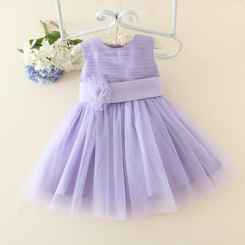 2017 Girl Birthday Dress Kids Elegant Purple Princess Dresses Vestido Children Clothes Summer 1-14 Years SKD001418 marfoli girl princess dress birthday