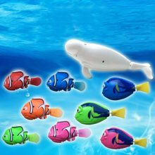 2018 New Funny Swimming Electronic Robofish Activated Battery Powered Robo Toy fish Robotic Pet for Fishing Tank Decorating toys(China)