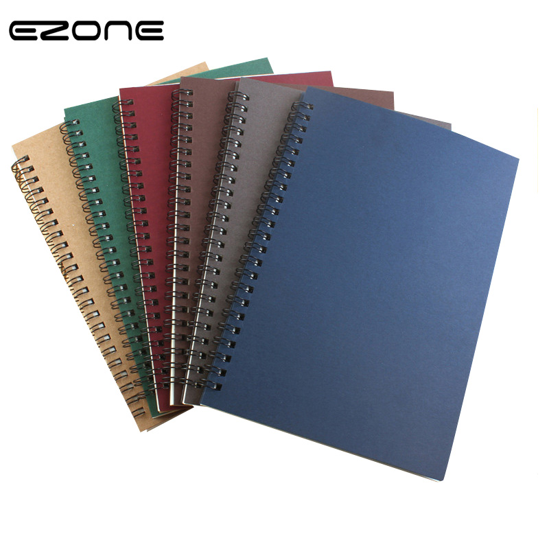 EZONE Spiral Notebook Loose Leaf NoteBook Line Page Traveler Jurney Diary Coil Notepad School Office Stationery Supply Papelaria