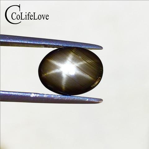 Estrela de Safira Solta para Pingente Luz da Estrela Milímetros Natural Safira Pedra Solta Anel Changle Pedras Preciosas 4 * 6mm