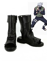 Hot Anime Naruto Kakashi Cosplay Costume Boots Shoes Christmas Party New Coming Boy Shoe Black