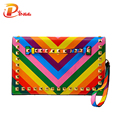 Women day clutch Rainbow bag handbag summer 2017 stripe shoulder bag brand designer chain rivets bags