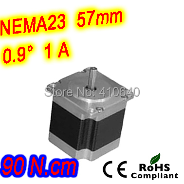 цена на 12 pieces per lot high resolution step motor 23HM22-1006S L 56 mm Nema23 with 0.9 deg 1 A 90 N.cm and unipolar 6 lead wires