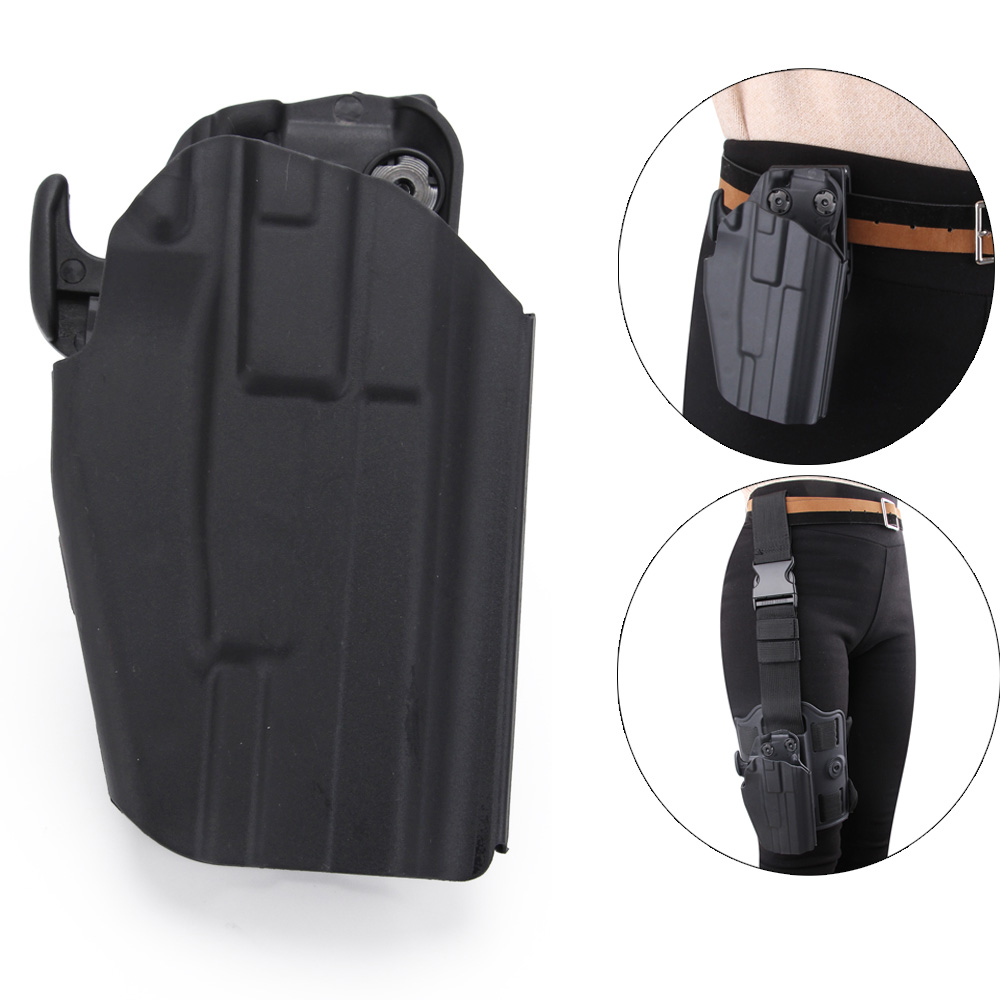 Tactical Gun Holster Right Hand Hunting Airsoft Combat Gun Pistol Holster For Glock 17 19 38 /USP/H&K/ PT24/SIG P226