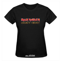 RTTMALL Casual Mujer Tops Plus Size Girlfriend R B T Shirt Cotton Iron Maiden Legacy Of