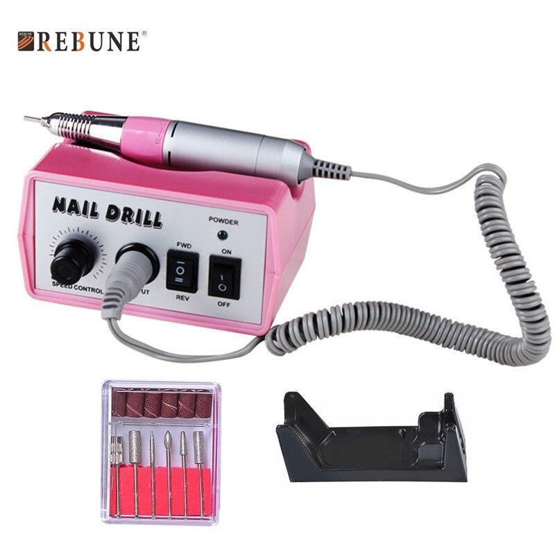REBUNE Pro 40W 35K RPM Electronic Nail Gel Remover Machine Set Multifunction Graver Quality Professional Nail Art Tools rebune 65w pro electric nail drill