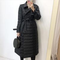 womens Winter Jackets double breasted slim Cotton Padded Female Coat Winter Women Long Parka Warm Thicken