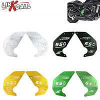 For Kawasaki Vulcan S 650 EN650 VN 650 2015 2019 Motorcycle CNC Aluminum Decoration Engine Side Cover Plate Green/Black/Gold 2PC