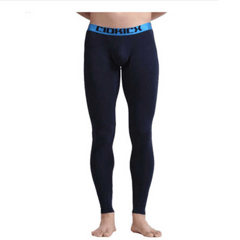 6e733ffab33 Sexy Long Johns Men Cotton Leggings U Pouch Tights Thermal Underwear Mens  Fashion Leggings Warm Elastic