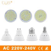 Lampada LED Lamp MR16 GU10 E14 E27 Bombillas Led light Spotlight 220V 3528SMD 48 60 80Leds White Lampara LED Spot Light Bulb