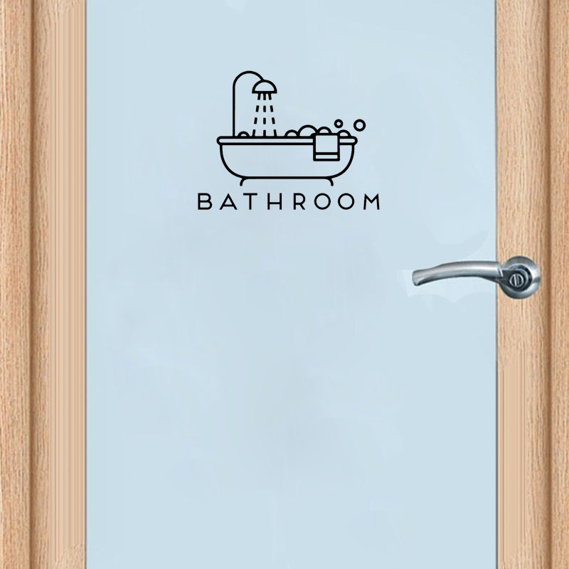 YOJA 25*19CM Funny BATHROOM Toilet Door Decoration Decal Graphical And Wall Stickers A40500