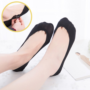 Invisible No Show Socks Women Summer Thin Cotton Ice Silk Silicone Non-Slip Liner Boat Socks Breathable Rose Flower Short Sock