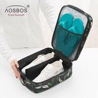 Aosbos Folding Shoe Bag Women Sport Bags For Gym Waterproof Training Fitness Bag Outdoor Travel Storage