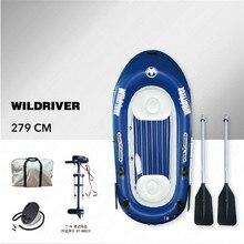 AQUA MARINA WILDRIVER Thuyền Bơm Hơi Tàu Đánh Cá Cao Su Bơm Hơi PVC Thuyền Kayak Dành Cho Câu Cá Đôi Người Có Mái Chèo