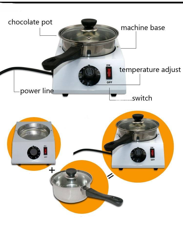 Electric Single cylinder chocolate melting furnace Tempering melting pot chocolate melter stove melting machine