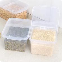 Кухня Организатор Пластиковые Продовольственной Коробка Для Хранения С Крышкой 4 КГ Малой Мощности Риса Ведро