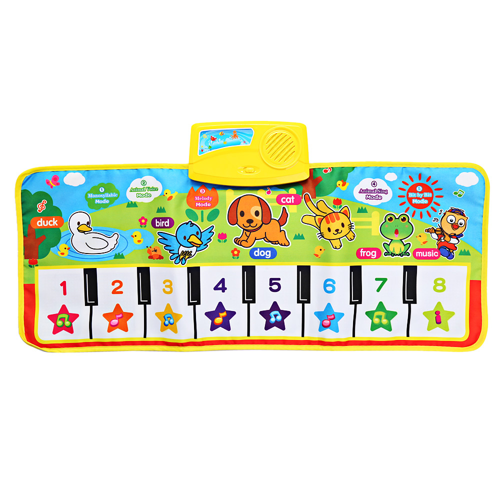 Baby Musical Animal Piano Play Mat Language Children Learning Playmat Music Baby Educational Electronic Play Mat For Kids