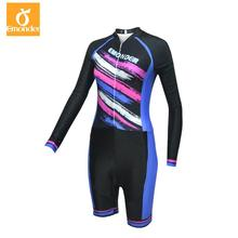 EMONDER Pro Team Cycling Women Triathlon Sports Clothing with 3D thin pad Ropa De Ciclismo Maillot tights sportwear