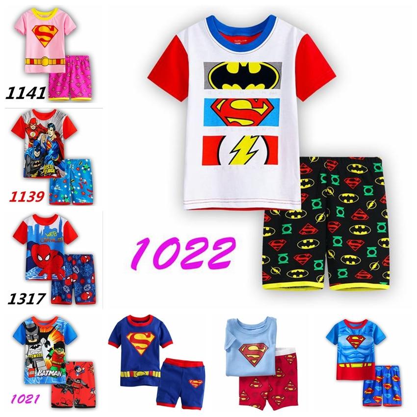 new design spiderman cotton pijamas kids  short sleeve boys pyjamas children pajama sets baby clothing