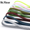 Mr.Niscar 1 Pair High Quality Shoelace Athletic Sport Sneakers Flat Shoelaces Striped Bootlaces Strings Colorful Shoe Laces