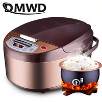DMWD Multi function Automatic Rice Cooker 5L Timing Non stick Rice Cooking Pot Food Heating Steamer Soup Stew Cake Yogurt Maker