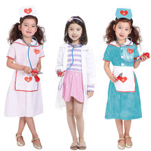 Umorden Childrens Day Carnival Party Halloween Nurse Costumes Girl Kids Doctor Costume Role Play Cosplay Suit Dress for Girls