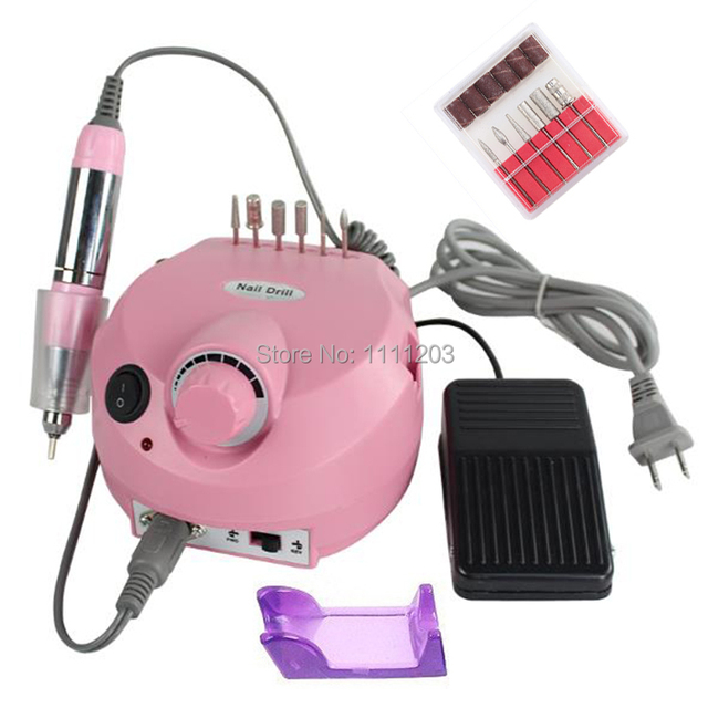 Professional Electric Acrylic Nail Drill File Manicure Kit Nails ...