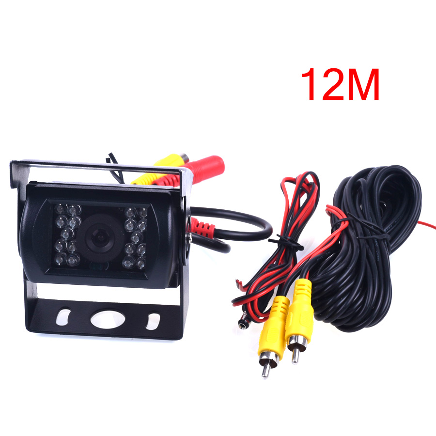 Bus HD CCD Car Rear View Camera Reverse backup Camera rearview parking 120 Degree 18 IR Nightvision Waterproof Bus Truck Camera factory truck bus camera ahd ccd rear view camera 24v truck camera iveco isuzu truck van trailer buses waterproof camera