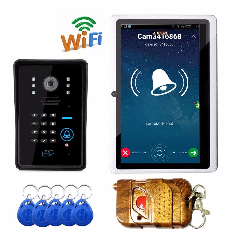 Smart  Phone remote unlock  wifi  doorbell  with RFID  Card remote controller password unlock wifi video door phone doorbell|doorbell wifi|doorbell smart|doorbell phone - title=