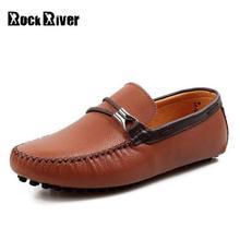 2017 сезон: весна–лето Мужская обувь Кожаные слипоны для мужчин повседневная обувь без каблука натуральная кожа мужские лоферы обувь для вождения Высокое качество