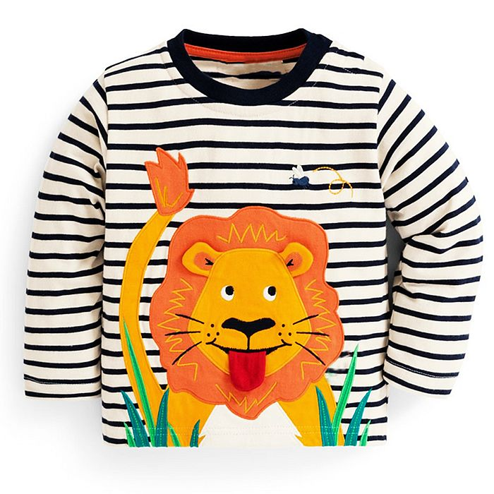 Baby Boys T shirts for Kids Clothing Autumn Winter Children T shirt for Boy Clothes Animal Pattern Toddler Tops Tee Shirt Fille 1