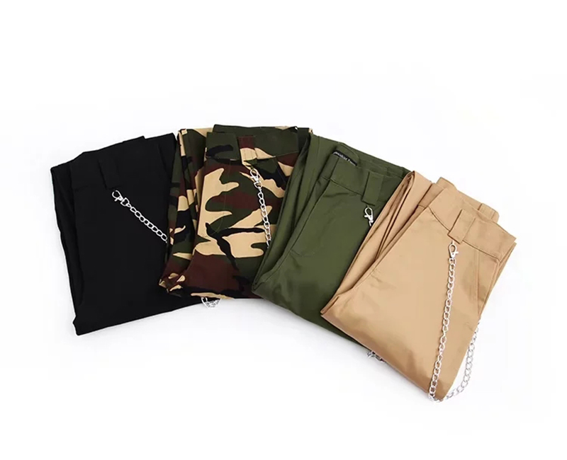 Woman high waist pants loose trousers joggers women camouflage sweatpants street wear 12
