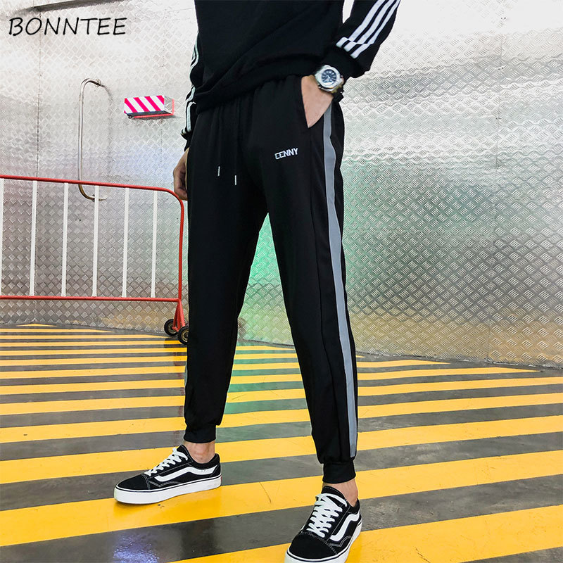 Pants Men Drawstring Korean-Style All-Match High-Quality Ulzzang Chic Ankle-Length Comfortable
