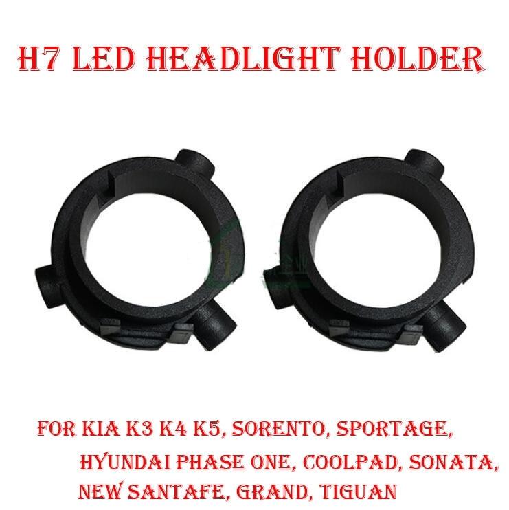 2PCS H7 LED-es fényszóróátalakító készlet izzótartó adapter - Autó világítás