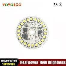 Smd2835 conduziu a luz da microplaqueta da lâmpada ac110v smart ic power diy ac220v 5 w 7 w 9 12 w 15 w lâmpadas conduzidas para o projector interno branco/branco morno