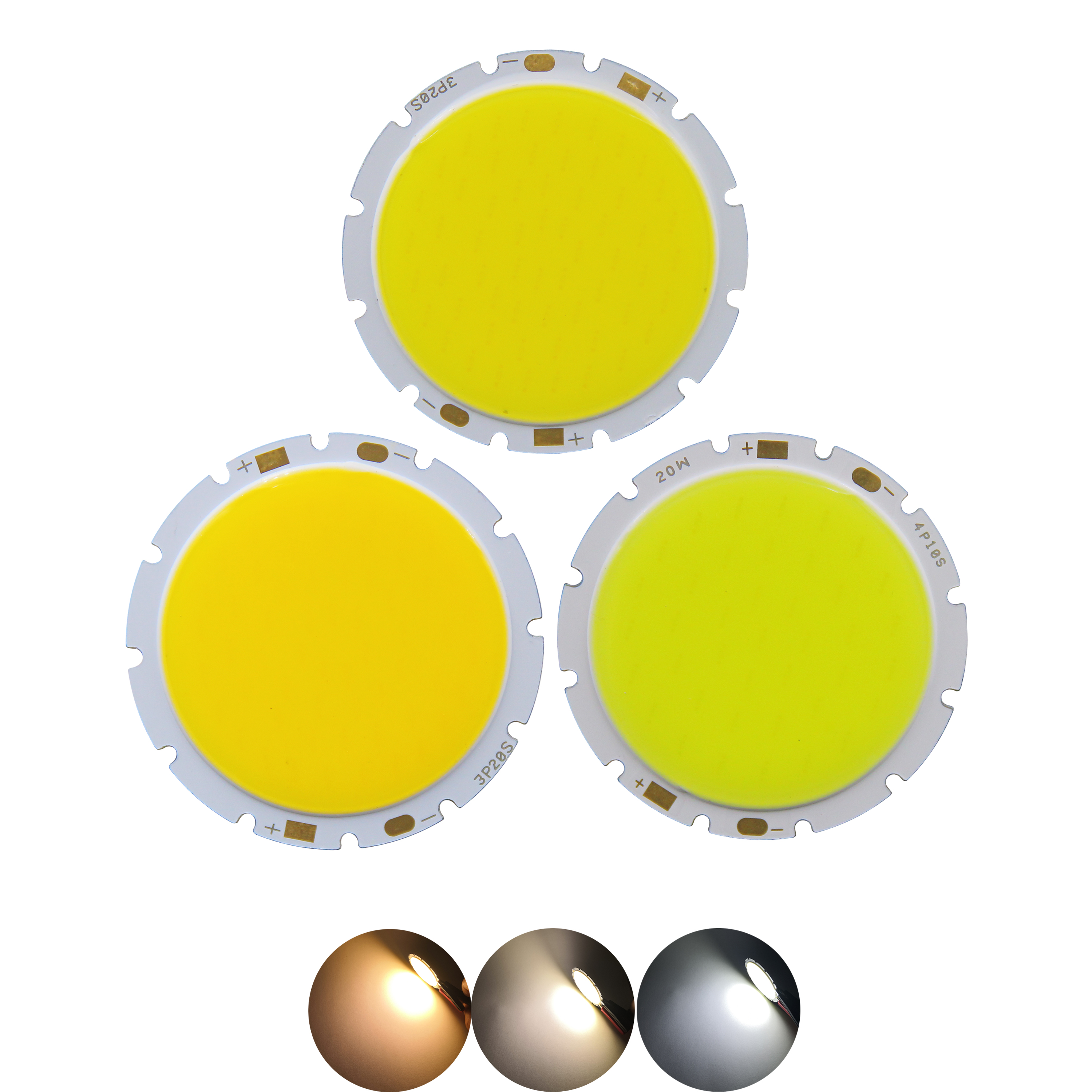 factory sale 49mm 42mm round <font><b>LED</b></font> COB Light Source Module warm nature white 15W 20W 30W lamp flip chips for downlight image