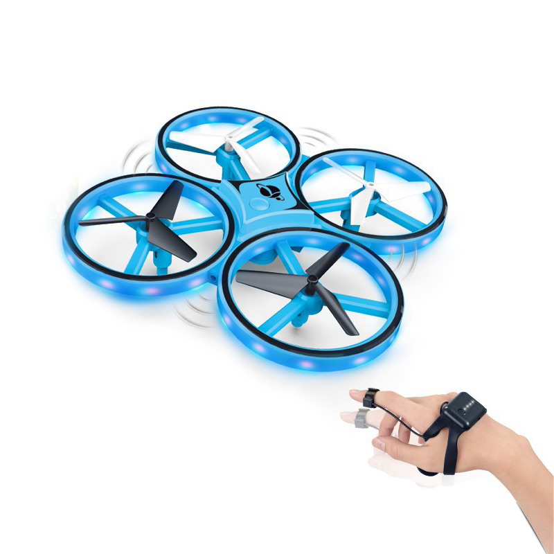 2.4G Remote Control Hand Operated Drone Interactive induction Quadcopter With Auto Avoid Obstacles Led Light Kids Toy