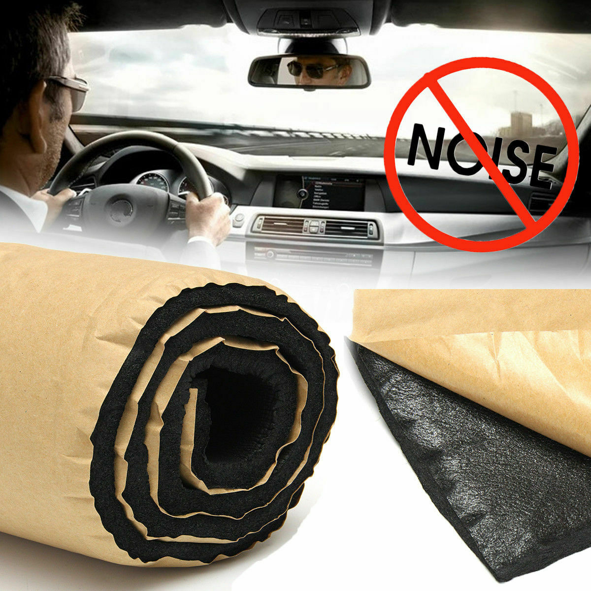 10mm 1m*1m Car Soundproof Noise Insulation Sound Deadener Acoustic Foam Material