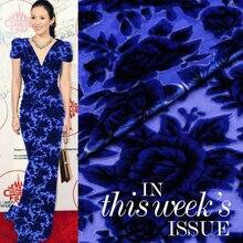 100% silk burnt-out velvet fabric upscale true clothing fabrics wholesale