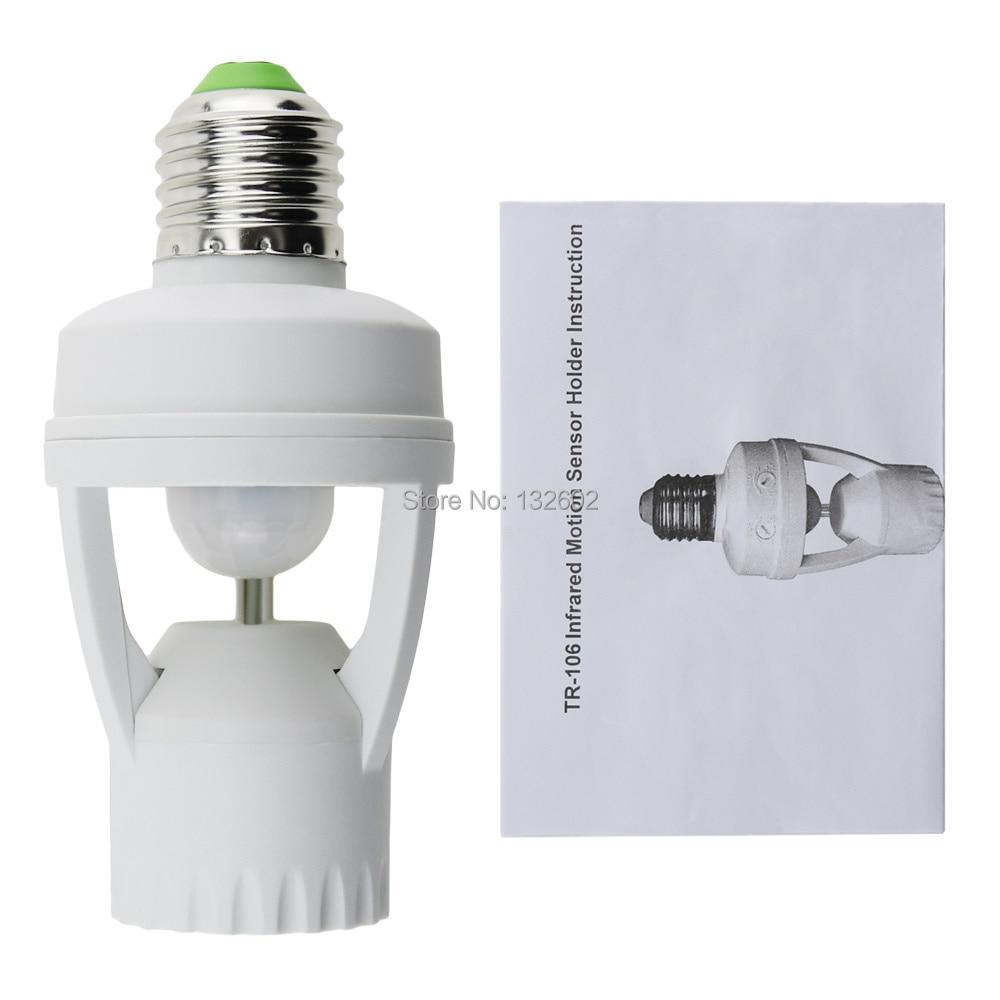 Motion Sensor Light Switch, Infrared Automatic Lamp Socket, E27 Lamp ...
