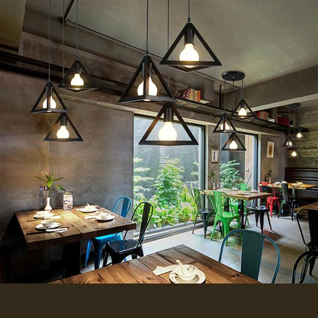 Vintage Industrial Loft Wire Cage Pendant Lighting E27 Hanging ...