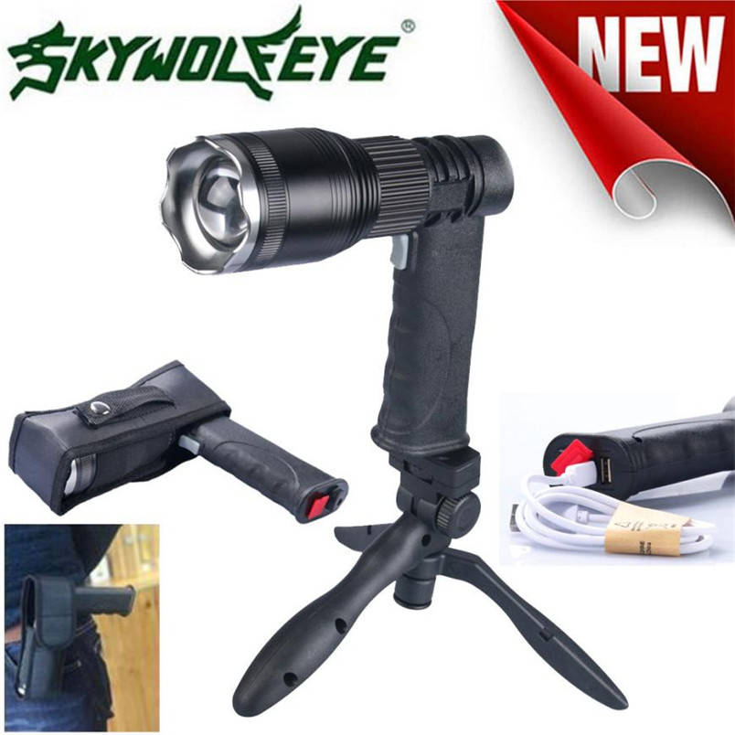 2017 Super Bright New Zoomable XM-L T6 LED Flashlight Torch Light Power Bank + USB Charger+ holder+cloth cover NOM29 cree xm l t6 bicycle light 6000lumens bike light 7modes torch zoomable led flashlight 18650 battery charger bicycle clip
