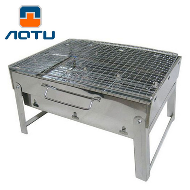 Drawer Style Barbecue Pits Stainless Steel Portable Outdoor Charcoal Grill Folding Ovenbbq