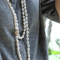 [DAIMI] Natural Baroque Pearl  necklace For Women Good Luster Sweater Chain 90cm/160cm  Longer Pendant Necklace SIONA