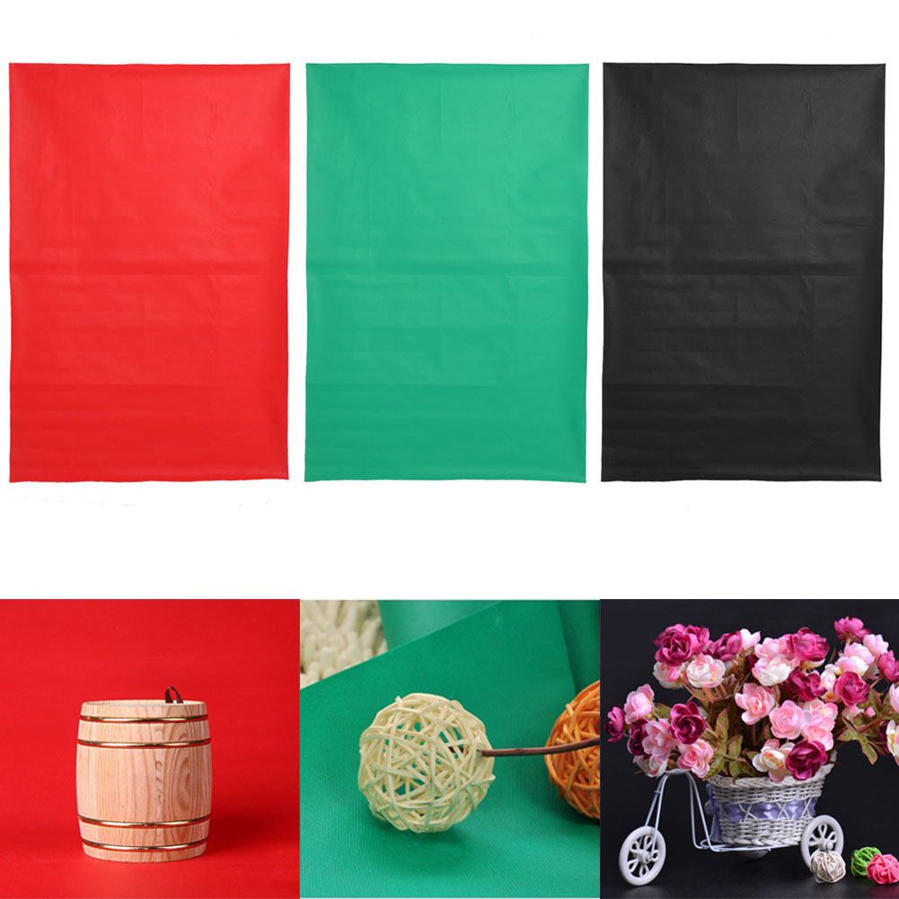 1.5mx1m Red/Green/Black Solid Color Photography Background Cloth Screen Non-woven Waterproof Photo Backdrops for Photo Studio