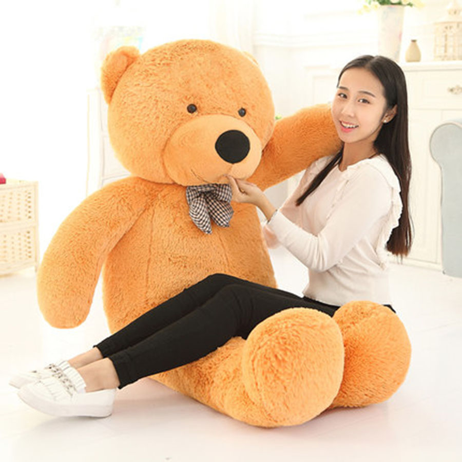 Plush Toys Large Teddy Bear Big Size 200cm 100cm Peluche Ourson Plush Pillow Pets Giant Bear Stuffed Animal Toy Soft 70C0397 2018 huge giant plush bed kawaii bear pillow stuffed monkey frog toys frog peluche gigante peluches de animales gigantes 50t0424
